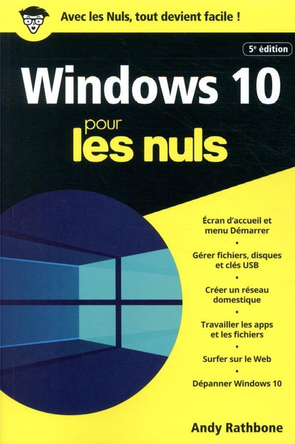 Windows 10 poche pour les nuls (5e édition)