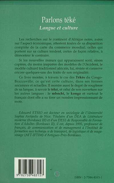 Téké, langue et culture ; Congo et Gabon