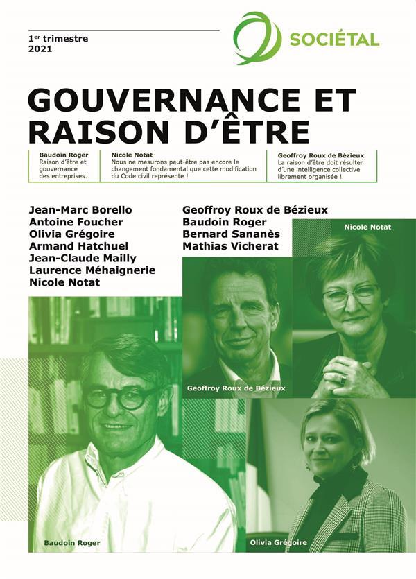 Revue sociétal : gouvernance et raison d'être