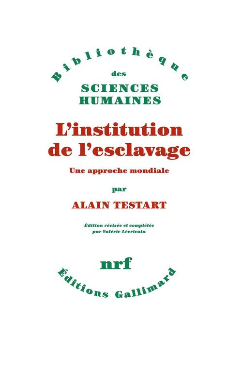 L'institution de l'esclavage