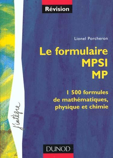 Le formulaire mpsi-mp