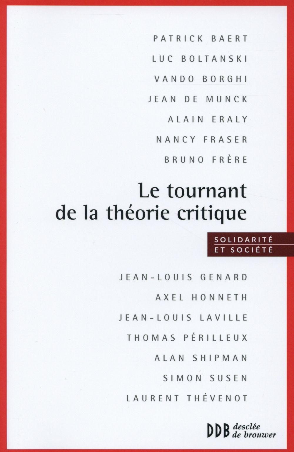 Le tournant de la théorie critique