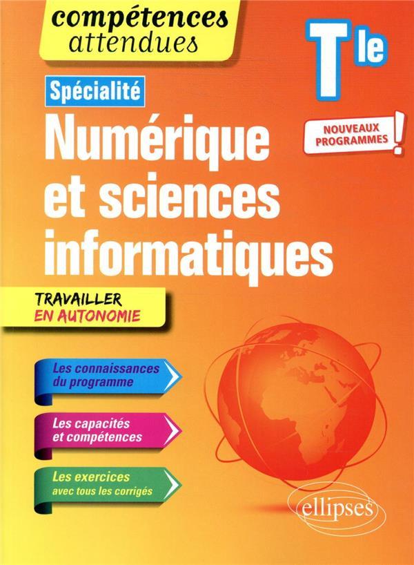 Compétences attendues ; spécialité NSI ; numérique et sciences informatiques ; terminale - nouveaux programmes