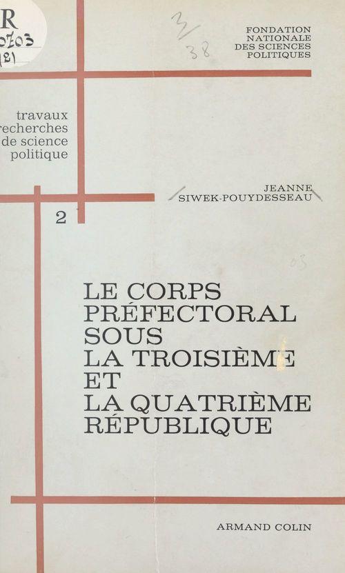 Le corps préfectoral sous la troisième et la quatrième République (2)