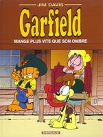 Couverture de Garfield t.34 ; garfield mange plus vite que son ombre