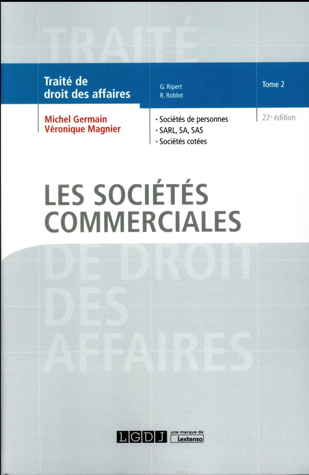 Les sociétés commerciales (22e édition)
