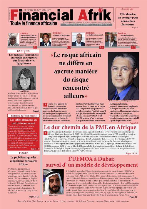 Financial Afrik n°11 octobre 2014