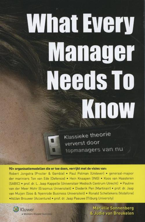 What every manager needs to know