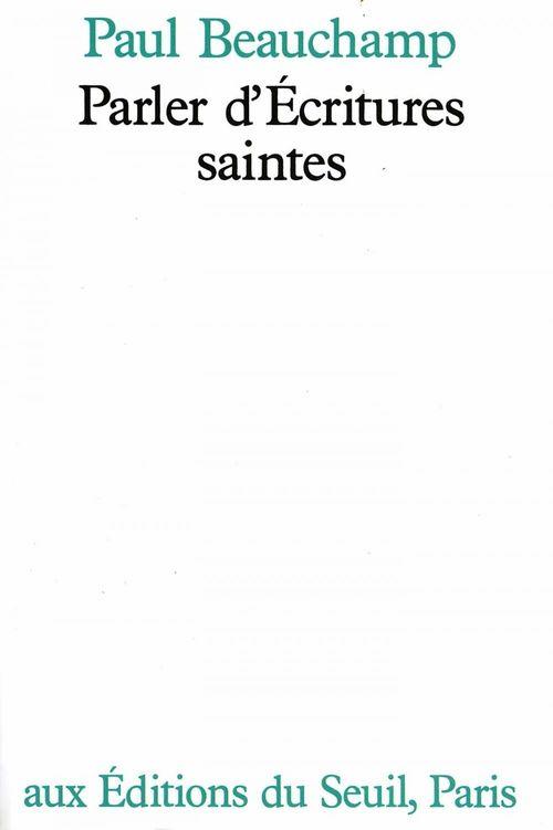 Parler d'Ecritures saintes