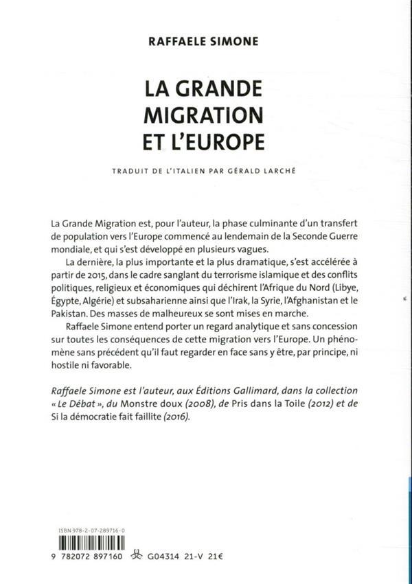 La grande migration et l'Europe