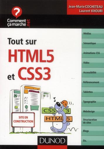 Tout sur HTML5 et CSS 3