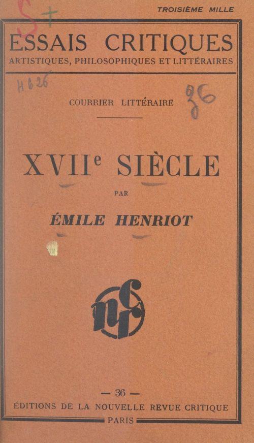 XVIIe siècle, courrier littéraire