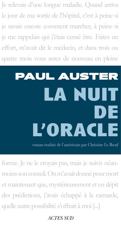 La nuit de l'oracle