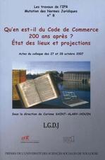 Vente Livre Numérique : Qu´en est-il du code du commerce 200 ans après ?  - Corinne Saint-Alary-Houin