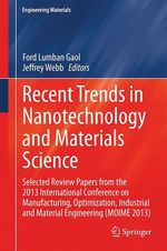 Recent Trends in Nanotechnology and Materials Science  - Ford Lumban Gaol - Jeffrey Webb