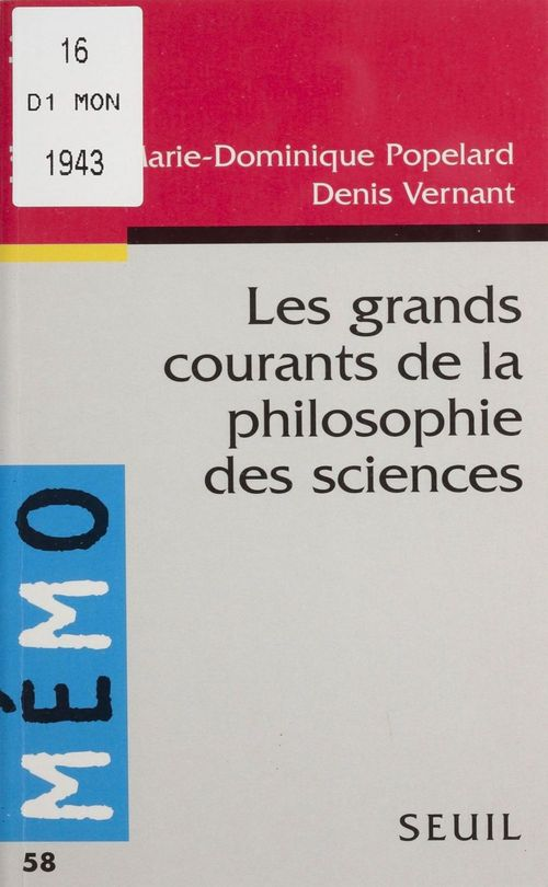 Grands courants de la philosophie des sciences (les)