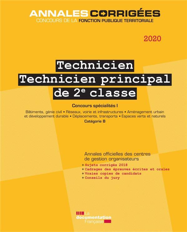 Technicien, technicien principal ; concours spécialité I ; catégorie B (édition 2019)