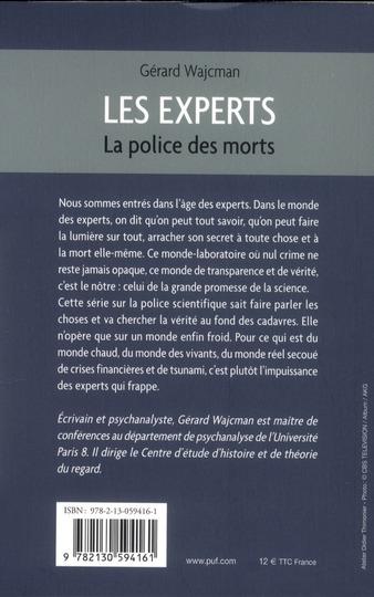 Les experts ; la police des morts