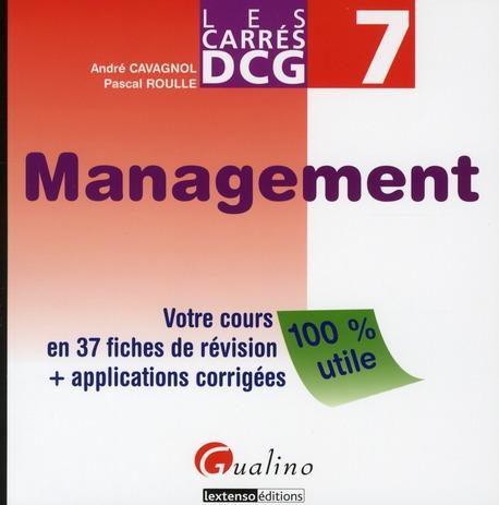 Les carrés DCG 7 ; management