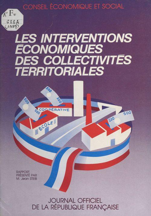 Les Interventions économiques des collectivités territoriales