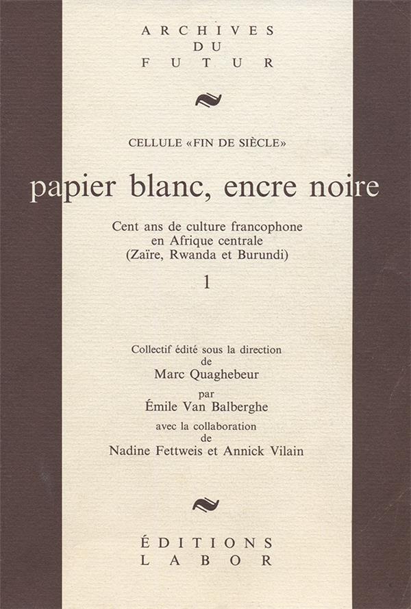 Papier blanc encre noire