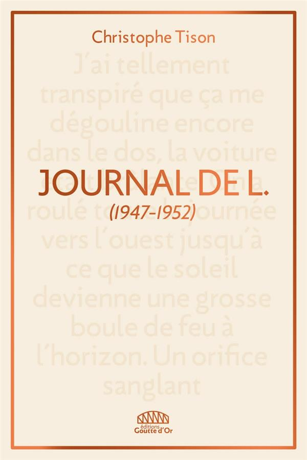 Journal de L. (1947-1952)