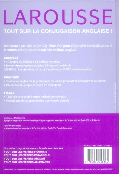 Tout Sur Les Verbes Anglais G Desagulier Leclerc Larousse Livre Cd Rom Le Hall Du Livre Nancy