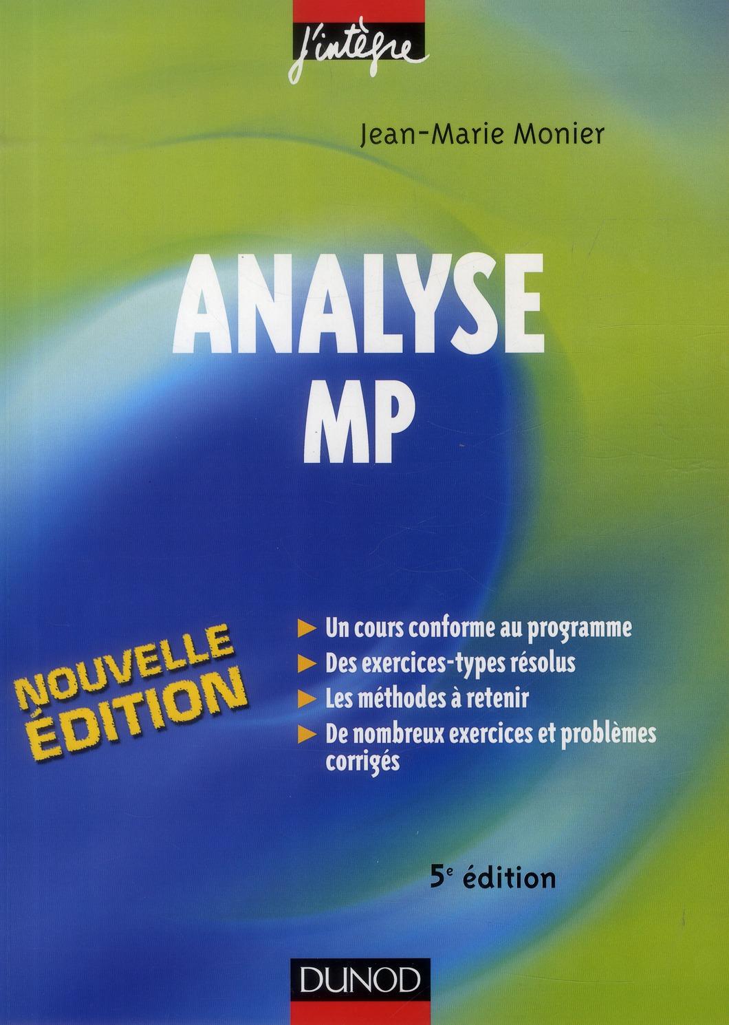 Analyse MP (5e édition)