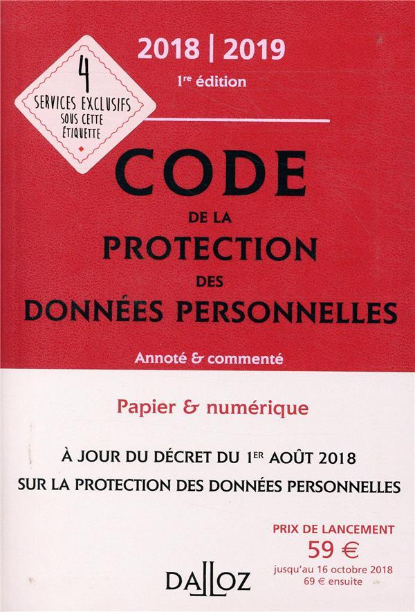 Code de protection des données personnelles (édition 2018/2019)