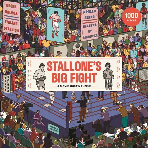 Stallone's big fight a movie jigsaw puzzle /anglais