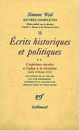 Oeuvres complètes t.2 ; écrits historiques et politiques t.2