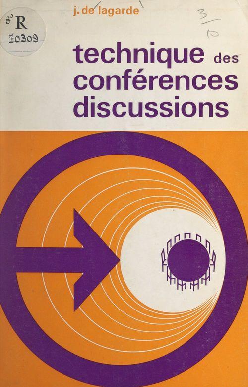 Technique des conférences discussions