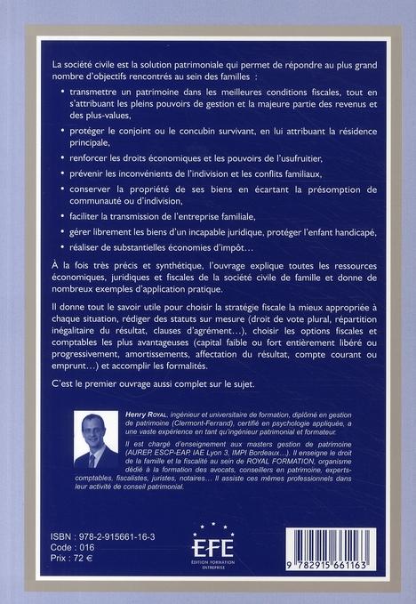 Société civile de famille ( édition 2008 )