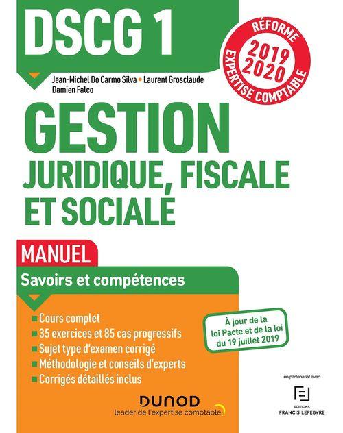 DSCG 1 Gestion juridique, fiscale et sociale - Manuel - Réforme 2019-2020
