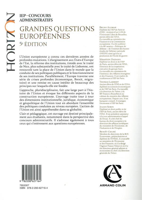 Grandes questions européennes ; IEP-concours administratifs (5e édition)
