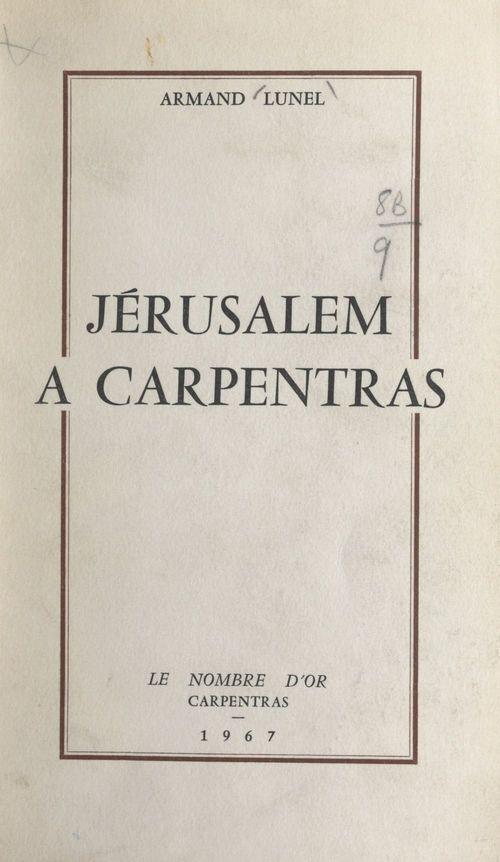 Jérusalem à Carpentras