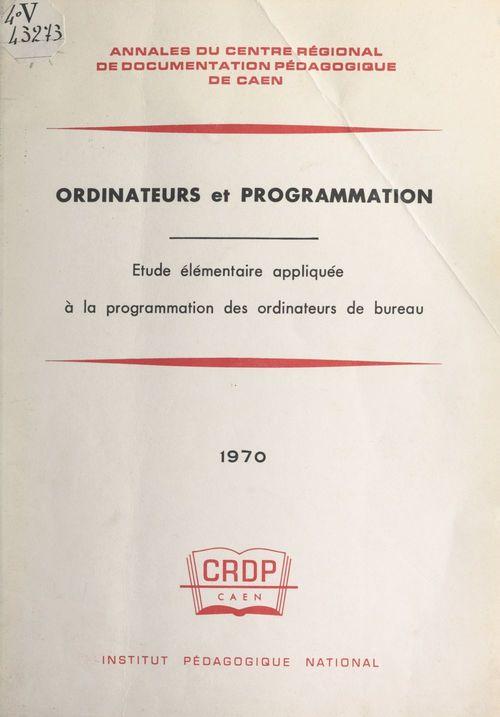Ordinateurs et programmation