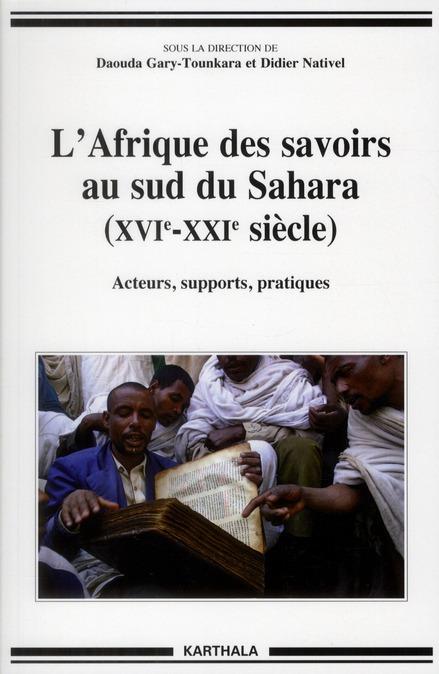 l'Afrique des savoirs au sud du Sahara