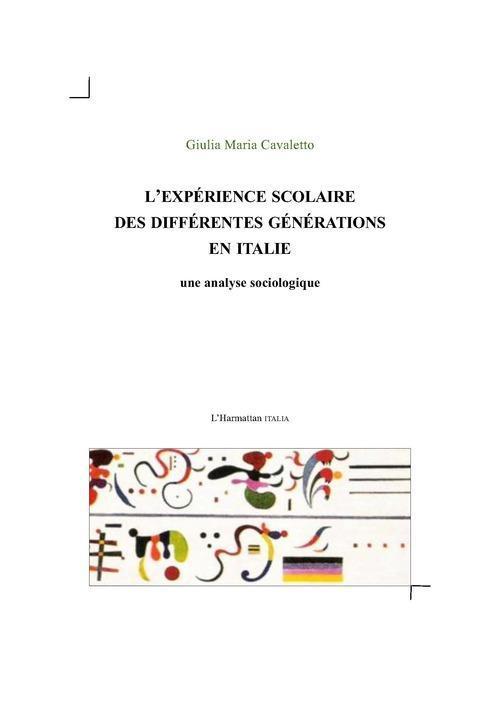 L'experience scolaire des differentes generations en italie - une analyse sociologique