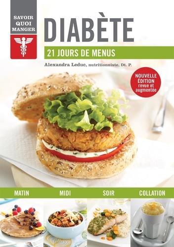 savoir quoi manger ; diabète nouvelle édition ; 21 jours de menus