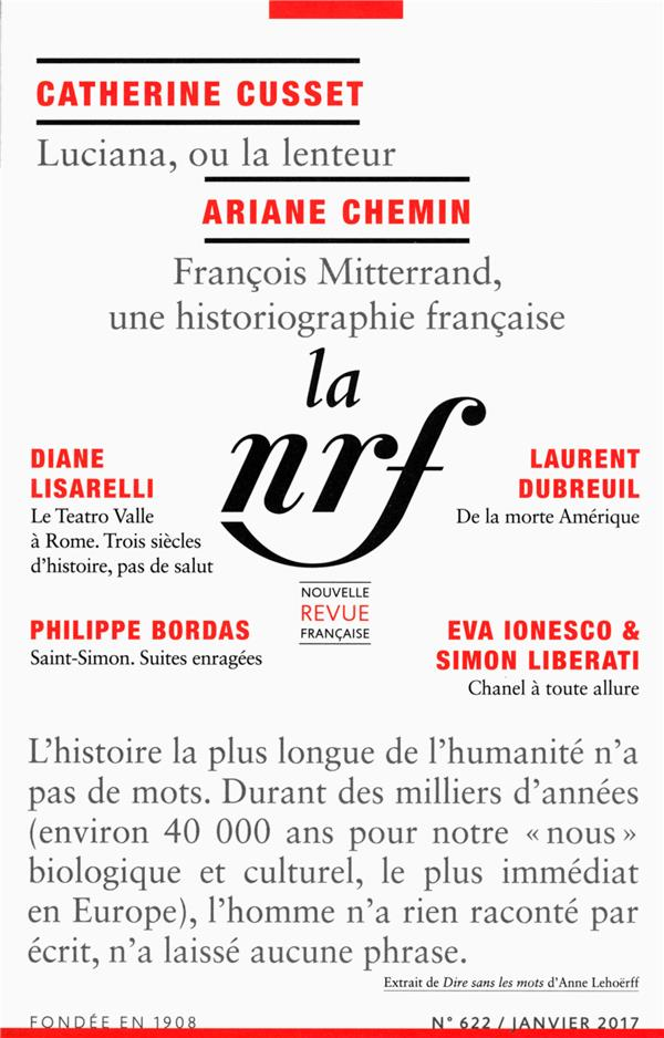 La nouvelle revue francaise n.622