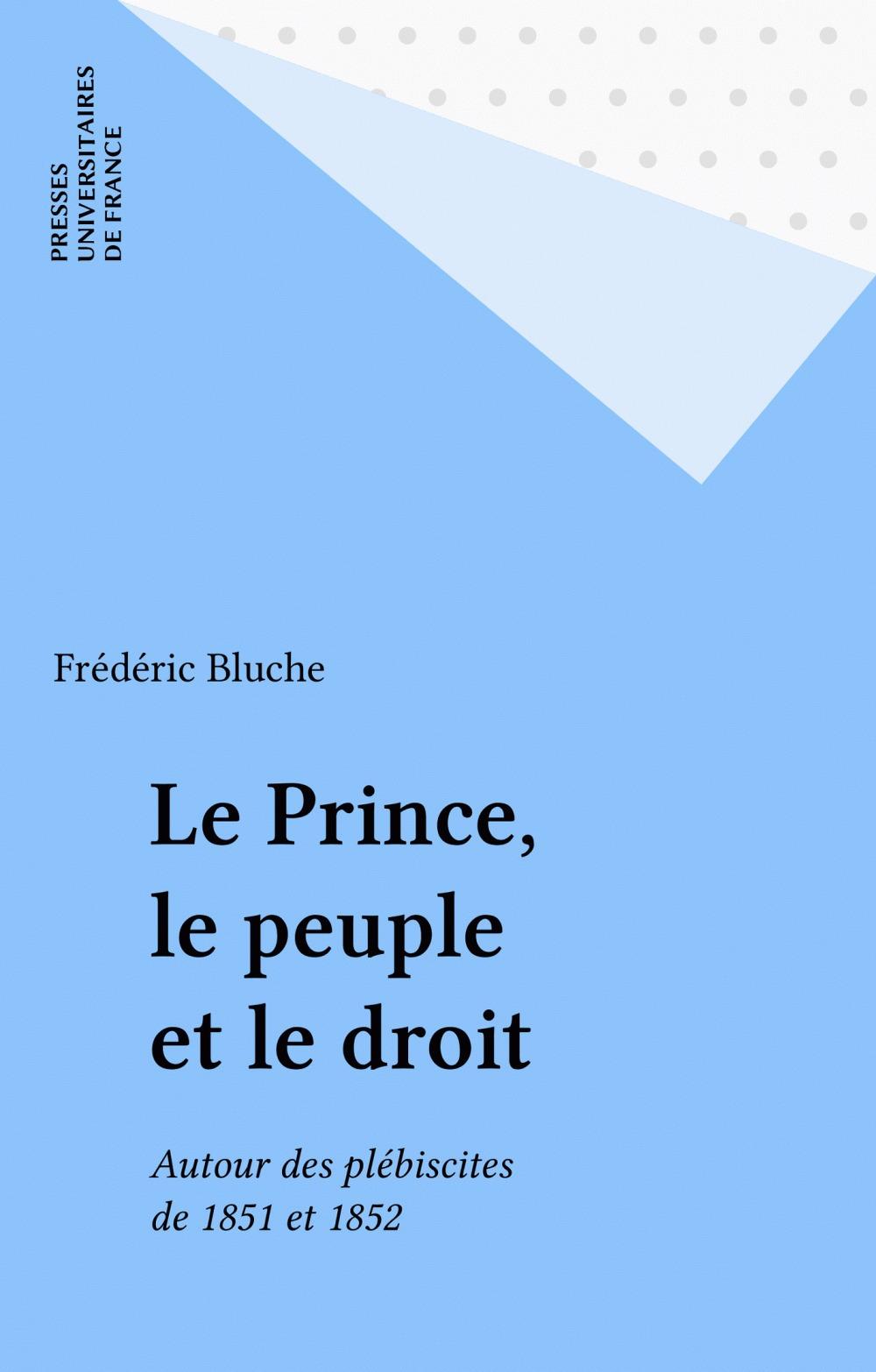 Prince le peuple et le droit (le)