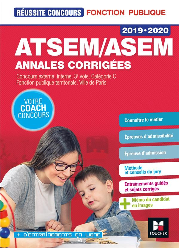 REUSSITE CONCOURS  -  ATSEMASEM  -  ANNALES CORRIGEES (EDITION 20192020)
