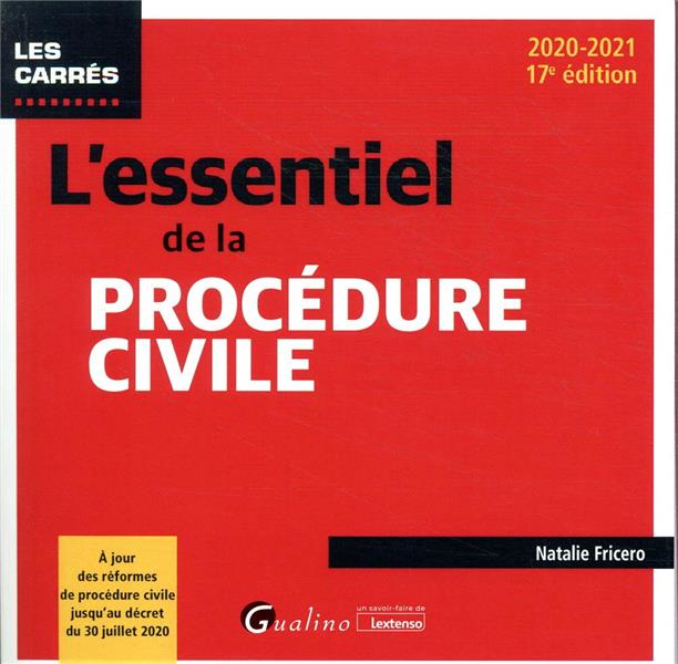 L'essentiel de la procédure civile (édition 2020/2021)