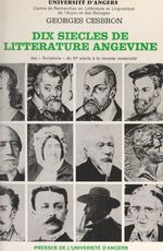 Dix siècles de littérature angevine