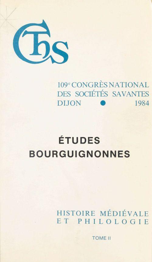 Etudes bourguignonnes finances et vie economique dans la bourgogne medievale lin