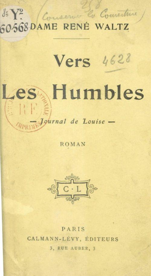 Vers les humbles  - René Waltz