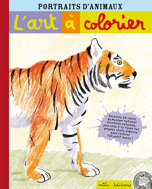 L'art à colorier ; portraits d'animaux