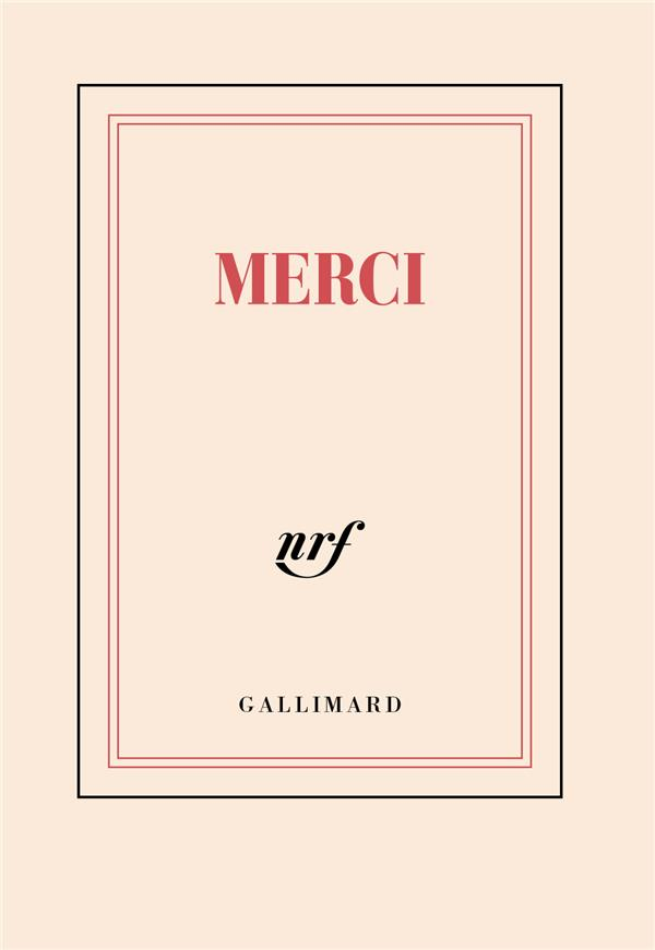 MERCI COLLECTIFS GALLIMARD