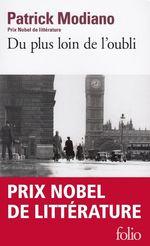 Vente Livre Numérique : Du plus loin de l'oubli  - Patrick Modiano